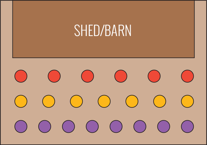 Shed/Barn Garden Diagram